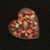 Kép 3/3 - Étcsokoládé szív eperrel szórva