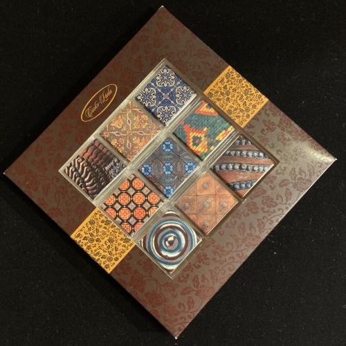 Étcsokoládé mozaik: Zsolnay csempék