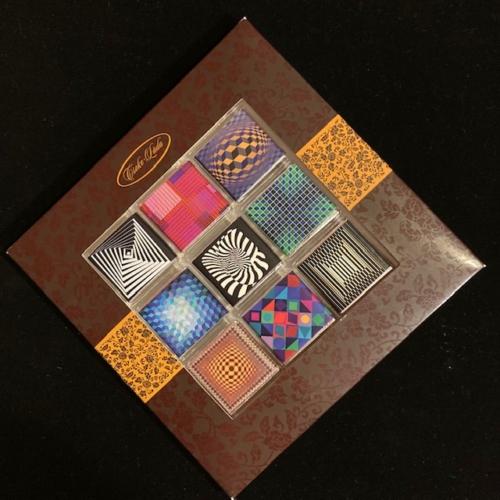 Étcsokoládé mozaik: Vasarely