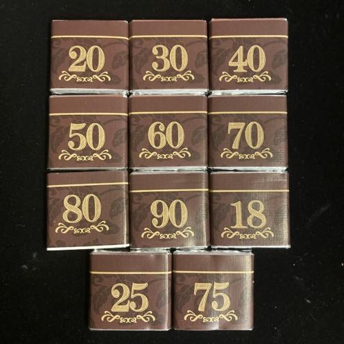 Mozaik csokoládék nevezetes számokkal